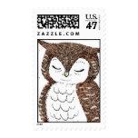 Whimsical Owl Postage