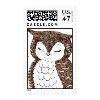 Whimsical Owl Postage Stamp
