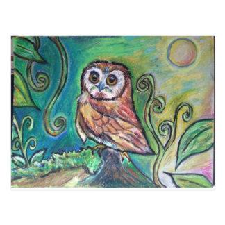 Whimsical Owl Postcard