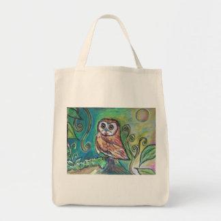 Whimsical Owl Tote