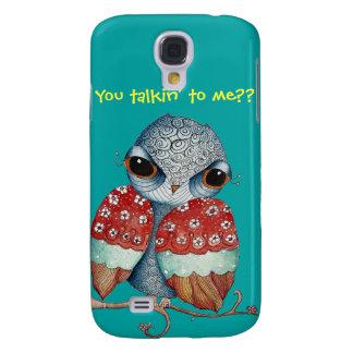 Whimsical Owl w Attitude HTC Vivid Tough Case Galaxy S4 Case