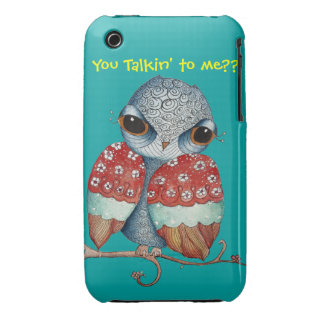Whimsical Owl with Attitude iPhone 3/3GS Case