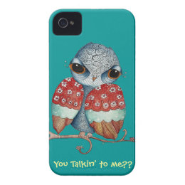 Whimsical Owl with Attitude iPhone 4 Case