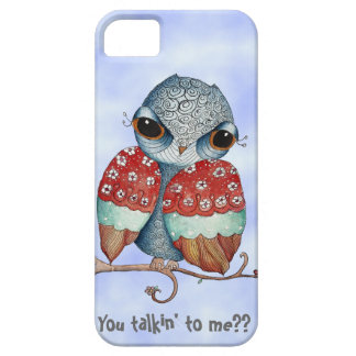 Whimsical Owl with Attitude iPhone 5 Case