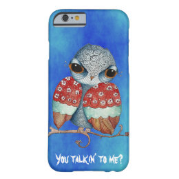Whimsical Owl with Attitude iPhone 6 Case