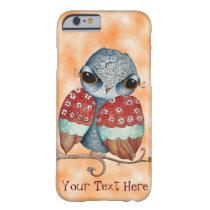 Whimsical Owl with Attitude Orange iPhone 6 Case