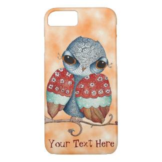 Whimsical Owl with Attitude Orange iPhone 7 Case