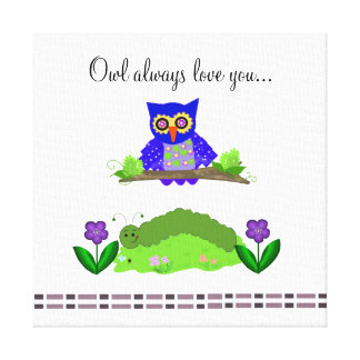 Whimsical Owl with Saying Canvas Print