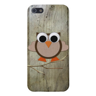 Whimsical Owl & Wood iPhone SE/5/5s Cover