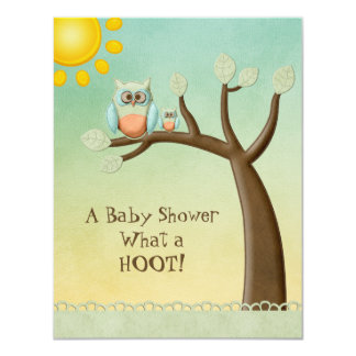 Whimsical Owls Baby Shower Card