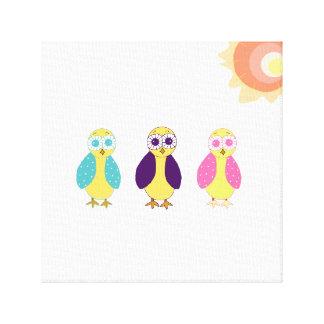 Whimsical Owls Canvas Print
