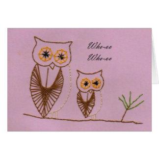 Whimsical Owls Greeting Card