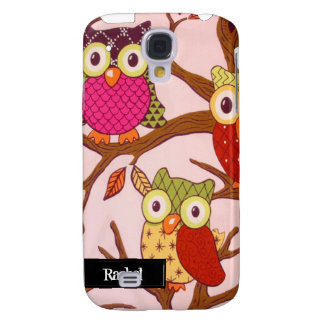 Whimsical Owls iPhone3G Galaxy S4 Covers