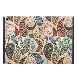 Whimsical Paisley Doodle Scribble Watercolor Cover For iPad Air