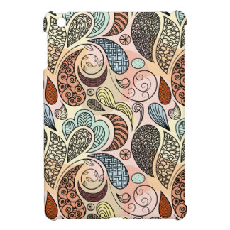 Whimsical Paisley Doodle Scribble Watercolor Cover For The iPad Mini
