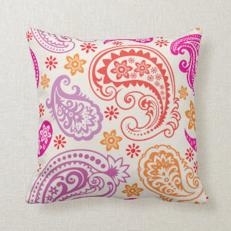 Whimsical Paisley Throw Pillow