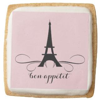 Whimsical Paris Eiffel Tower | Bridal Shower Square Premium Shortbread Cookie
