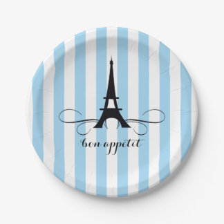 whimsical paris eiffel tower bridal shower paper plate