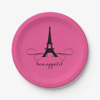 Whimsical Paris Eiffel Tower | Bridal Shower Paper Plate