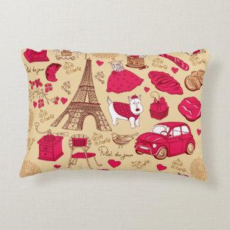 Whimsical Parisian Pillow