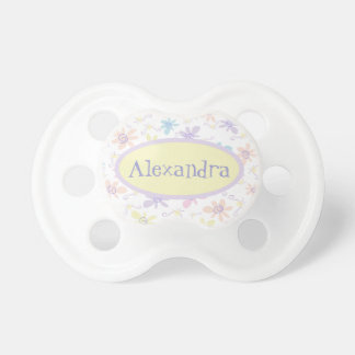 Whimsical Pastel Flowers Pacifier