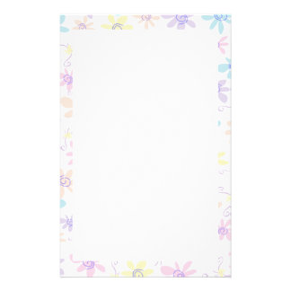 Whimsical Pastel Flowers Stationery