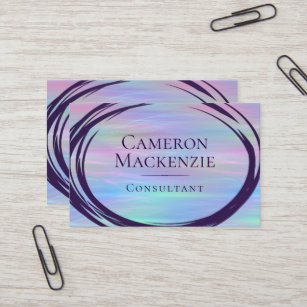 Iridescent business cards templates zazzle whimsical pastel rainbow trendy iridescent modern business card colourmoves