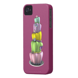 Whimsical Pastel Topsy Turvy Cake iPhone 4 Case-Mate Cases