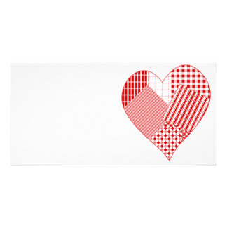 Whimsical patchwork heart card