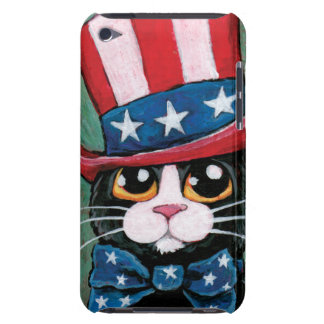 Whimsical Patriotic Tuxedo Cat Illustration iPod Touch Case