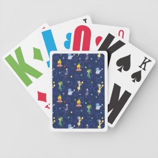 Whimsical Pattern Bicycle Playing Cards