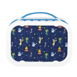 Blue yubo Lunch Box with Cute Pattern from Pixar's Inside Out design