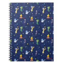 Photo Notebook (6.5' x 8.75', 80 Pages B&W) with Cute Pattern from Pixar's Inside Out design