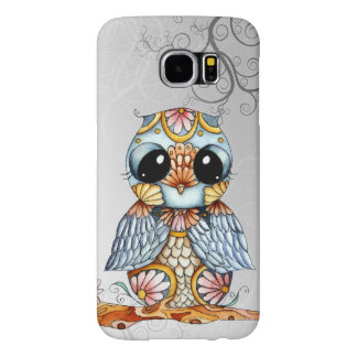 Whimsical Patterned Owl Samsung Galaxy S6 Case