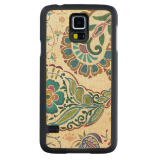 Whimsical Peacock Carved Maple Galaxy S5 Slim Case