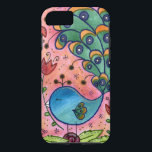 """Whimsical Peacock iPhone 7 case<br><div class=""""desc"""">From one of my original watercolor paintings!</div>"""