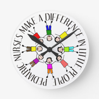 Whimsical Pediatric Nurse Clock
