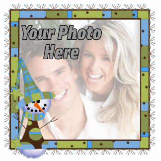 Whimsical Photo Christmas Ornament Photo Cut Out