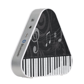 Whimsical Piano and Musical Notes Bluetooth Speaker