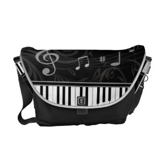 Whimsical Piano and Musical Notes Courier Bag