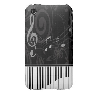 Whimsical Piano and Musical Notes iPhone 3 Case