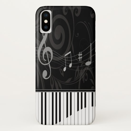 Whimsical Piano and Musical Notes iPhone XS Case