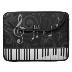 Whimsical Piano And Musical Notes Sleeve For Macbook Pro at Zazzle
