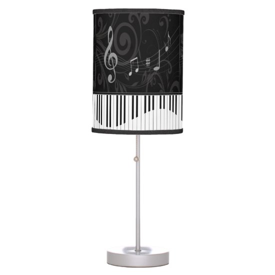 Whimsical Piano and Musical Notes Table Lamp