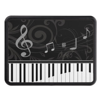 Whimsical Piano and Musical Notes Tow Hitch Covers