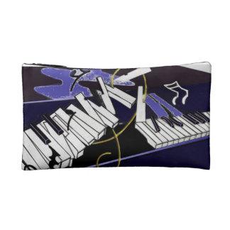 Whimsical Piano Keys Cosmetic Bags