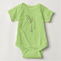 Whimsical Pig Blowing Bubbles Baby Jersey Bodysuit