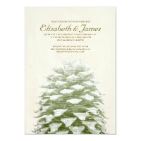 Whimsical Pine Cones Wedding Invitations