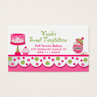 Home Bakery Business Cards & Templates | Zazzle
