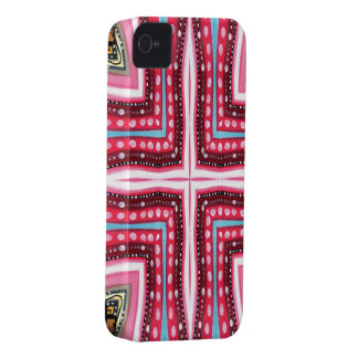 Whimsical Pink Cross iPhone 4 Case-Mate Case